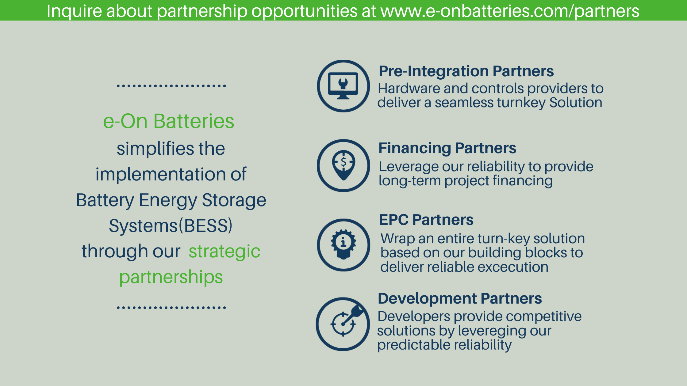Turn-key partners for Battery Energy Storage Systems
